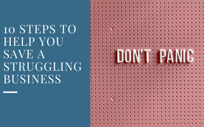 10 steps to help you save a struggling business